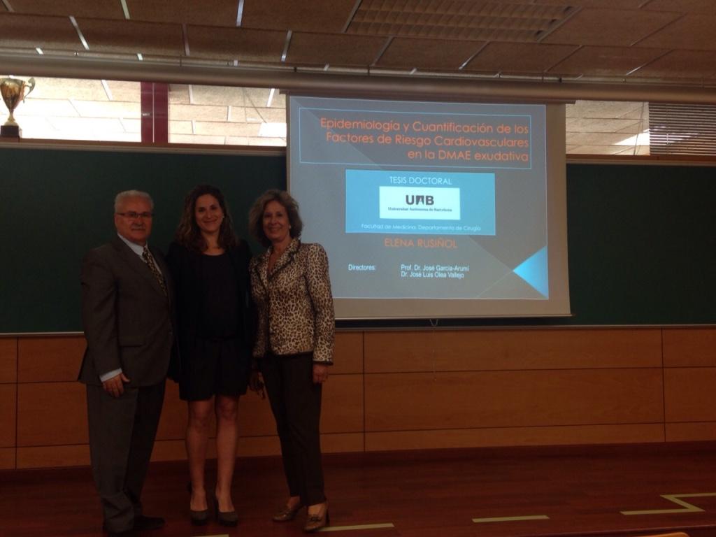 La Dra. Elena Rusiñol obtiene CUM LAUDE en su tesis doctoral